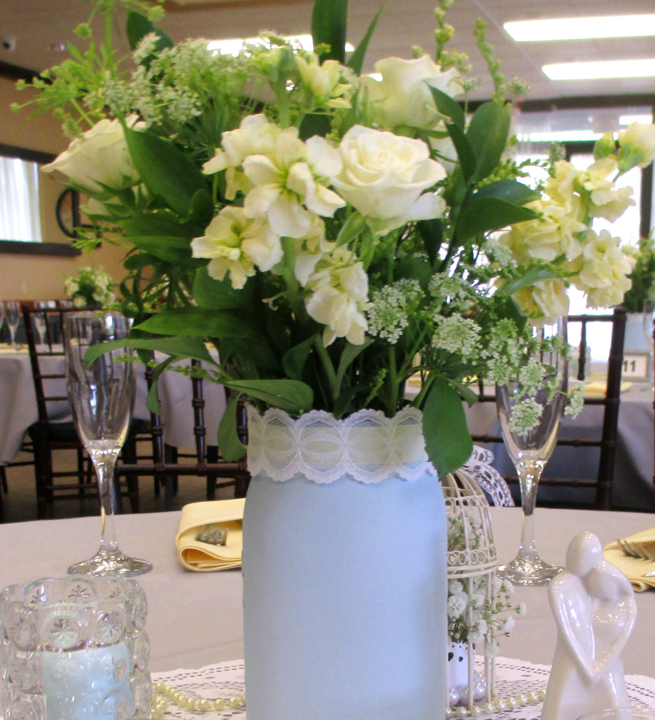 Wedding table bouquet option Grass Valley event