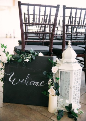 Wedding decorations created using faux flowers