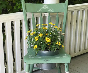 come paint with us this shabby chic chair planter chalk paint class Grass Valley Ca